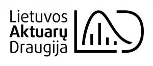 LAD logo horizontalus juodai baltas